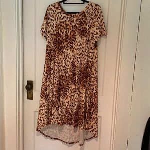 LulaRoe Carly Cheetah Dress M